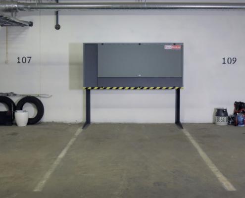 Parkbox på parkeringsplass